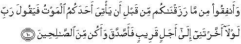 Al Munafiquun 10