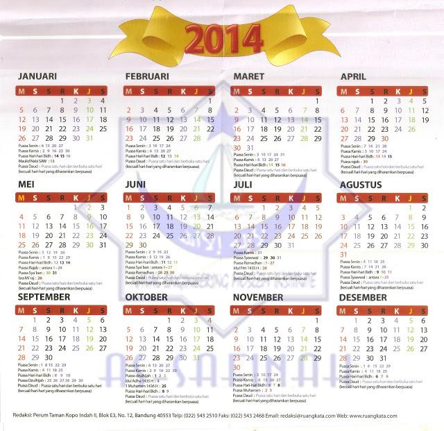 Kalender Puasa Sunah 2014